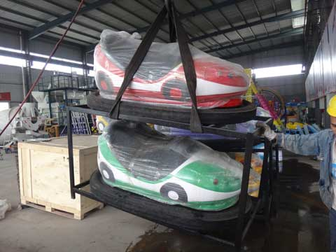 Packing Bumper Cars for Pakistan Customer