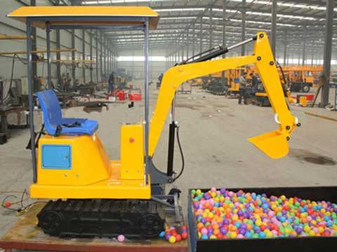 Coin Operated Kids Excavator Rides for Sale