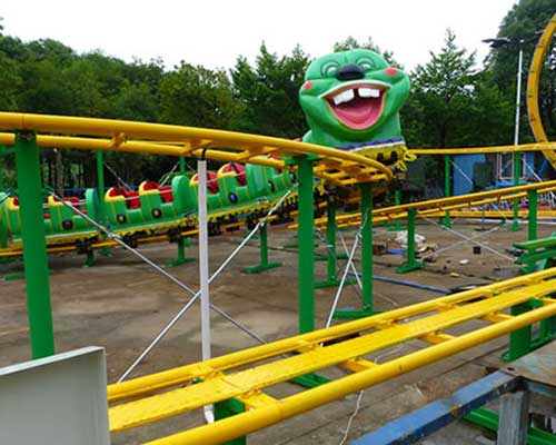 Slide Worm Kiddie Roller Coaster for Pakistan Amusement park
