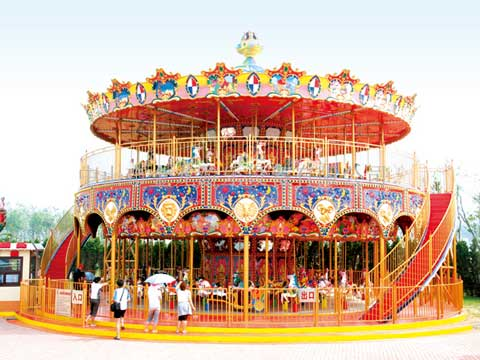 88 Seat Double Decker Carousel for Pakistan