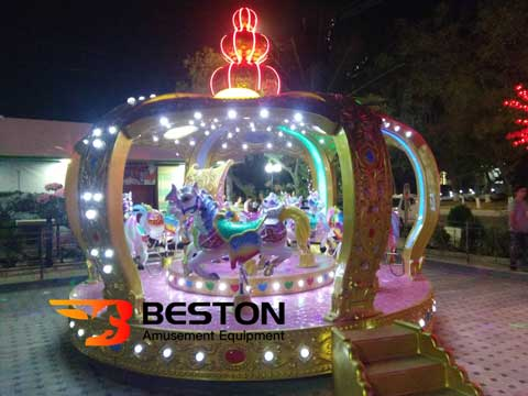 12 Seat Kiddie Carousel Ride In The Night