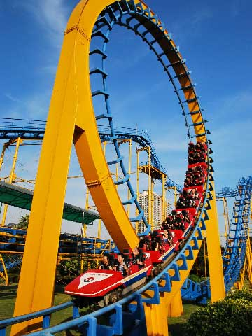 3-Ring Large Roller Coaster Rides for Sale In Pakistan