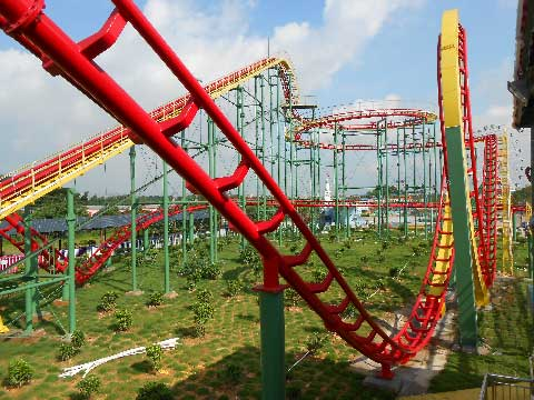 3-Ring Roller Coaster Rides for Sale In Pakistan