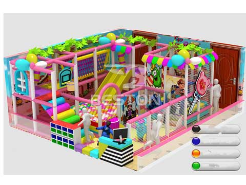 Kids 40 Meter Indoor Playground Equipment for Sale In Pakistan