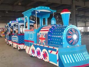 British Trackless Train for Pakistan
