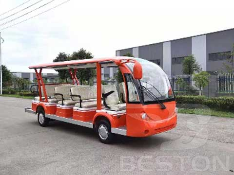 Orange Electric Bus for Sale