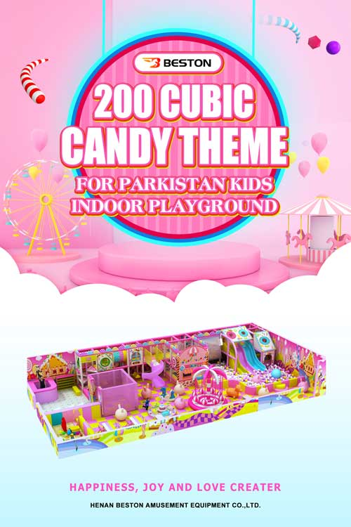 200 Cubic Candy Theme Indoor Playground Equipment for Pakistan Kids