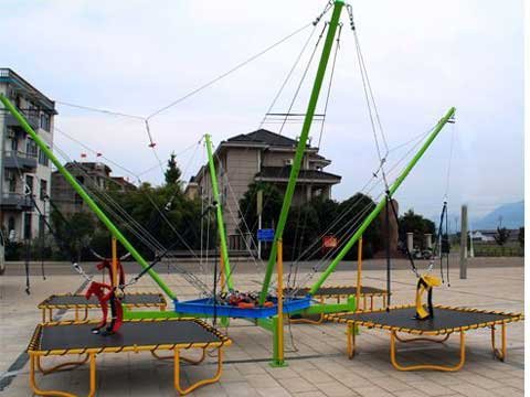 4 Person Bungee Trampoline for Pakistan